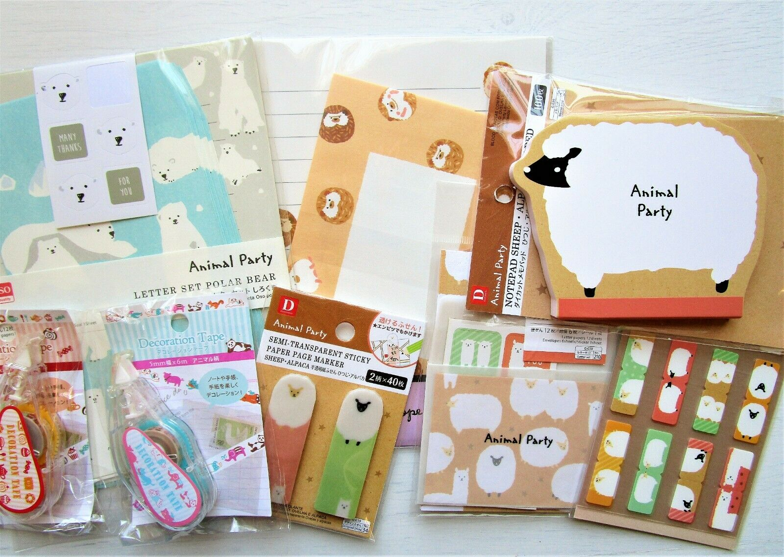 Stationary Cushion Notebook with Cute Animal Cover Daiso