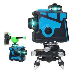 12 líneas 3D Luz azul y verde Nivel láser Autonivelante Medición de Ingeniería