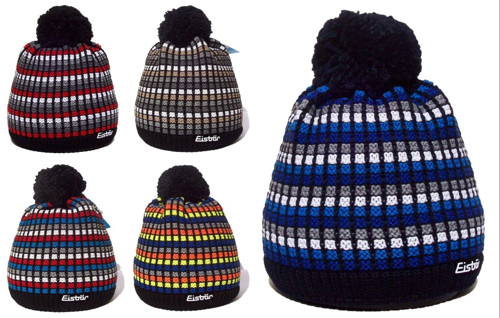 NEW- EISBAR TIMMY POMPON MU Austrian Luxury Winter Merino Wool Sport Ski Hat