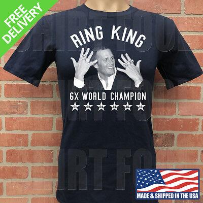 NEW ENGLAND PATRIOTS TOM BRADY ***RING KING 6X CHAMPION*** SUPER BOWL T-SHIRT