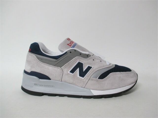 best sneakers e2ed7 ba7ac New Balance 997 Made in USA Grey Navy Blue Atmos White Sz 8 M997WEB