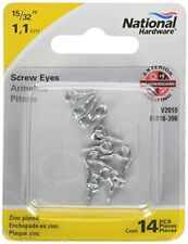 National Hardware N118-398 #217 1//2 X 15//32 Zinc Plated Screw Eyes 14 Count