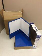 Case Of 100 Esselte Oxford Blue Letter Size Laminated Twin Pocket Folder 51701