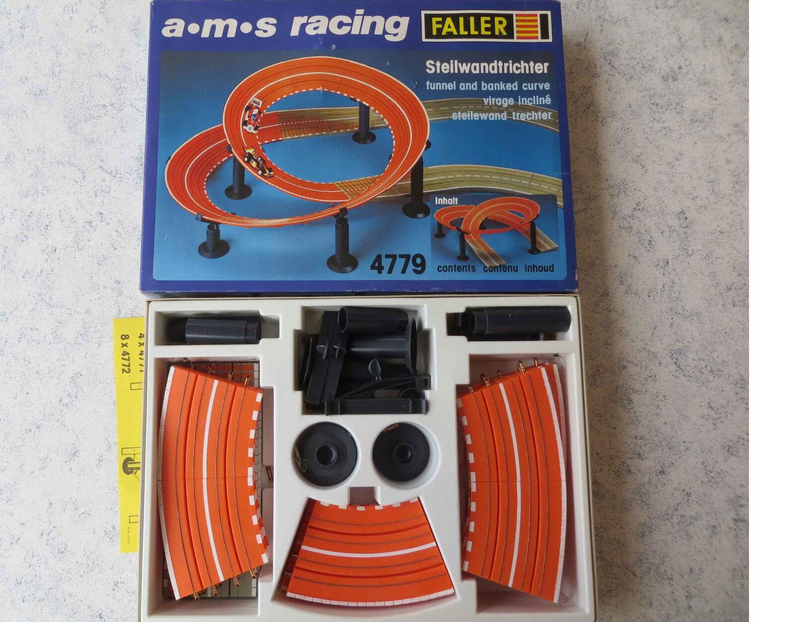 Faller AMS 4779 --   Steilwandtrichter in OVP,  + 4 Schleifer und Hinterreifen