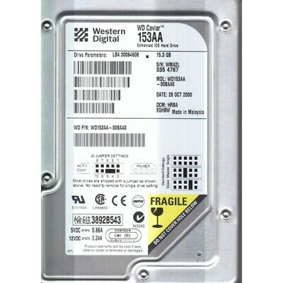 1200 Mb Western Digital Wdac 21200 7200rpm Ide-