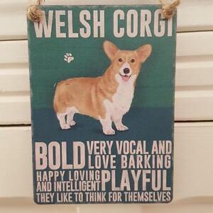 WELSH CORGI MINI METAL CHIC N SHABBY VINTAGE RETRO DOG SIGN