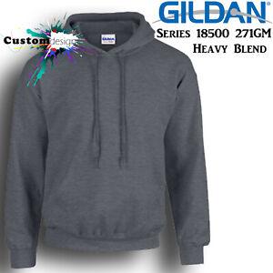 Gildan-Dark-Heather-Hoodie-Heavy-Blend-Basic-Hooded-Sweat-Sweater-Mens