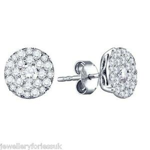 18Carat-White-Gold-Half-Carat-Round-Diamonds-Pave-Set-Cluster-Pair-Earrings-0-50