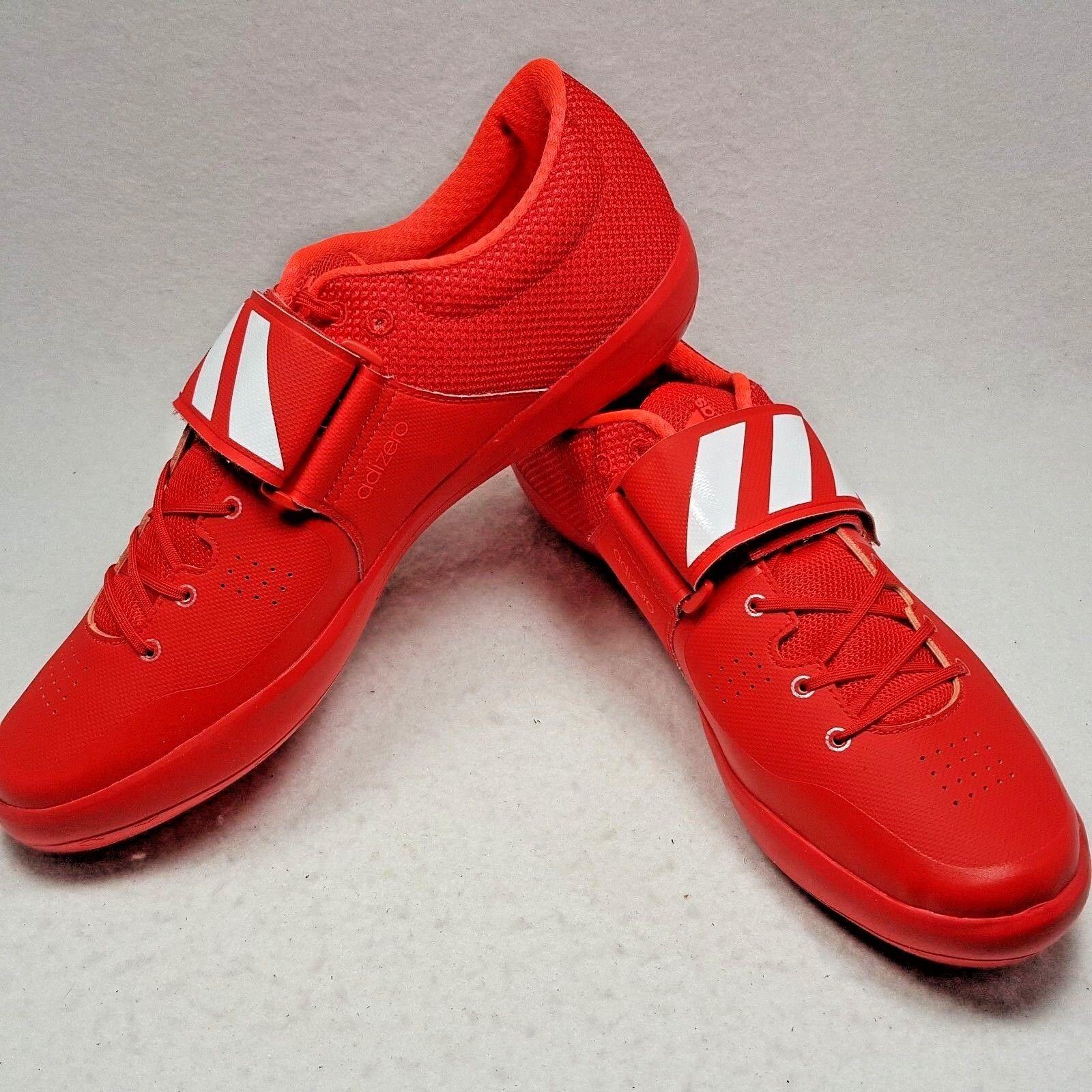Adidas Adizero Rio Shotput 2 Discus Hammer pista Zapato Rojo Hombre Talla 10.5