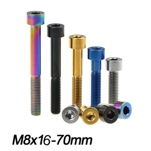 Titanium ti DIN912 Screw M8x16-70mm Cone Head Bolts for Motorcycle Parts