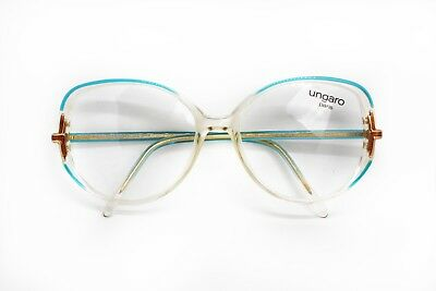 80s Ungaro Paris Made In France Frame In Clear Cello Adorned In Azure And