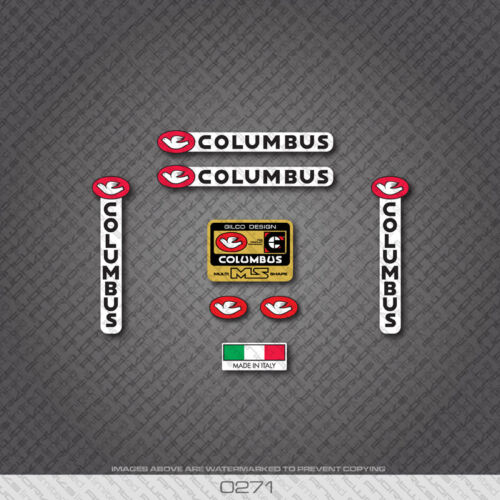 Decal 0271 Columbus Multi MS Shape Bicycle Frame Sticker
