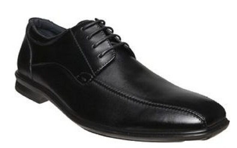 Mens HUSH PUPPIES CAREY WIDE Black FORMAL/DRESS/WORK/CASUAL/LEATHER SHOES -EXTRA WIDE CAREY 143f7a