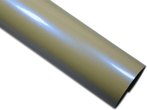 Perlmutt Weiß Glanz Folie Blau Effekt Auto Folie 50cm x 152cm Luftkanäle
