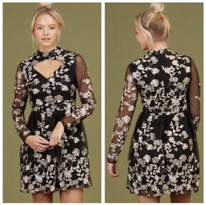 f12295595e Altar d State Women s Small Malvern Dress Black Gold Choker NWT  100 ...