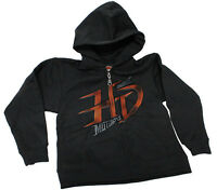 Harley-davidson Kids Boys Youth H-d Script Full Zip Black Hoodie Jacket
