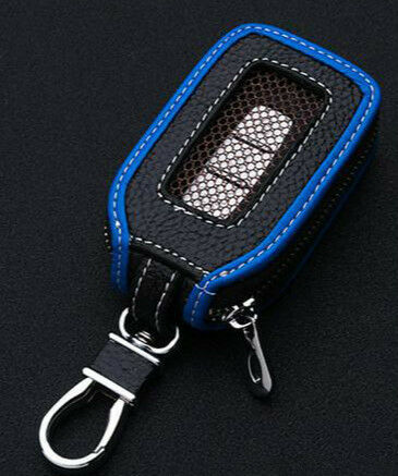 Cowhide leather Car Key  shell Holder Keychain Ring Case Bag Fit For Nissan Auto