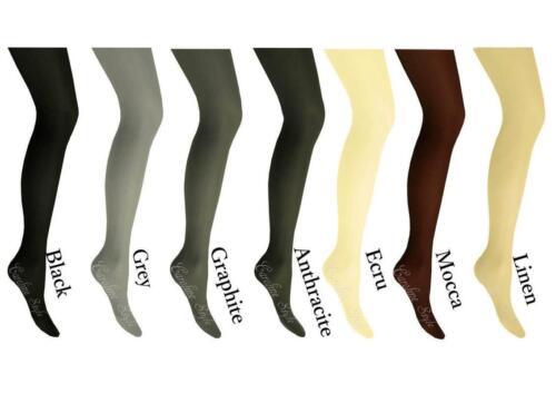 Comfy Warm Soft Opaque Microfibre Tights Fiore Quality Pantyhose 100 Denier S-XL