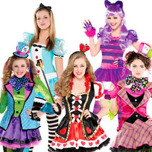 Alice au Pays des Merveilles robe fantaisie fille World Book Day Kids Teen Conte De Fées Costume-afficher le titre d`origine quZKDPRi-07153820-230793605