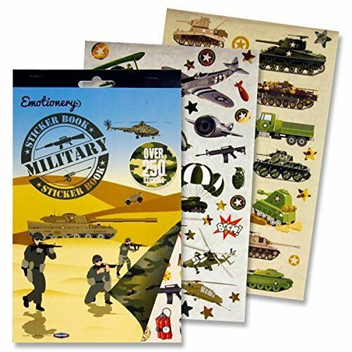 MILITARY ARMY STICKERS BOOK OVER 250 STICKERS