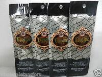 4 Sample Packets Elusive 50x Bronzer Indoor Tanning Bed Tan Lotion Designer Skin on sale