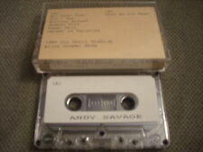 MEGA RARE PROMO Andy Savage CASSETTE TAPE Live 1989 Alice Cooper show UNRELEASED