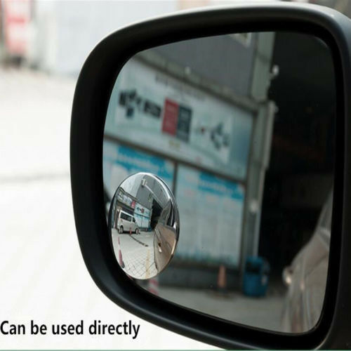 2x Wide Angle Round Convex Blind Spot Mirror For Car Auto Rear View Universal #1