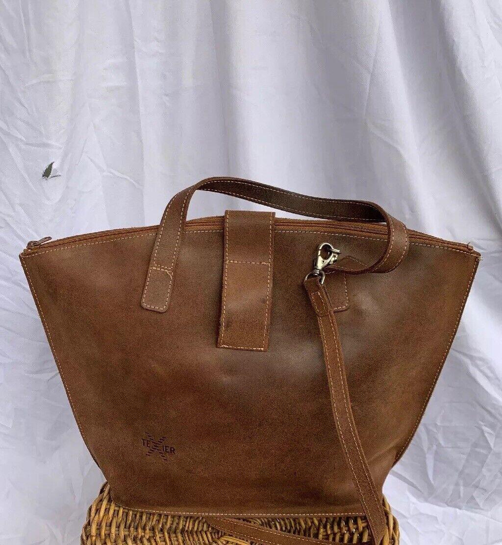 Texier French Designer Brown Cross Body Handbag