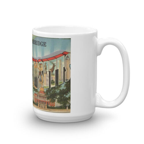 Greetings from Cambridge Massachusetts Postcard Coffee Mug