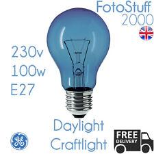 100w E27 Daylight Craftlight GLS Blue Filter Bulb GE 230v | SAD Therapy | Crafts