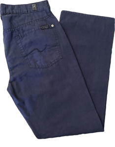 7-For-All-Mankind-Mens-Casual-Pants-Cotton-Linen-Size-30-Blue