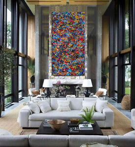 Multicolored-abstract-painting-Jackson-Pollock-Style-Contemporary-wall-art