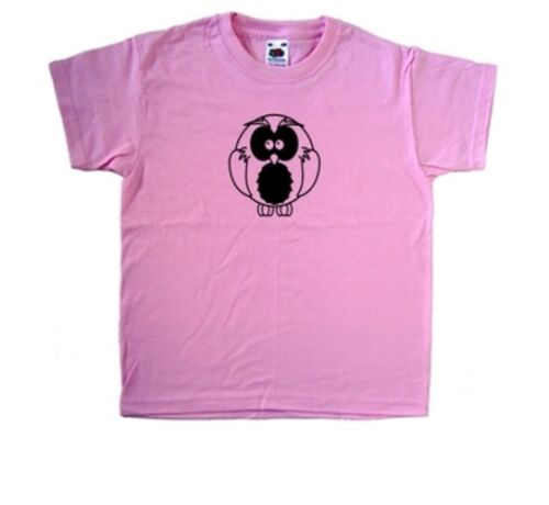 Owl Pink Kids T-Shirt