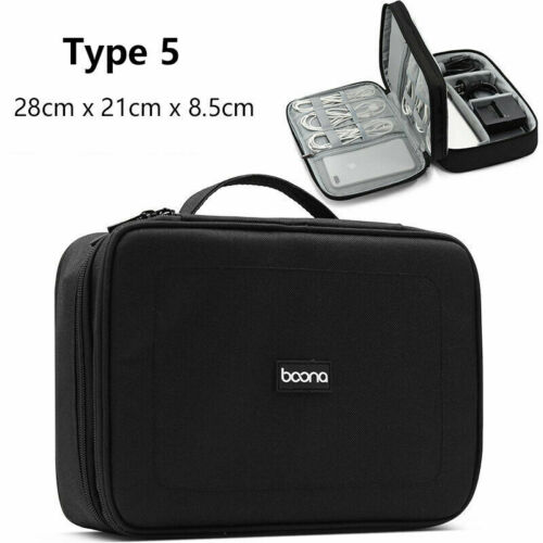 Travel Electronic Accessories Organizer USB Cable Adapter Charger Storage Bag