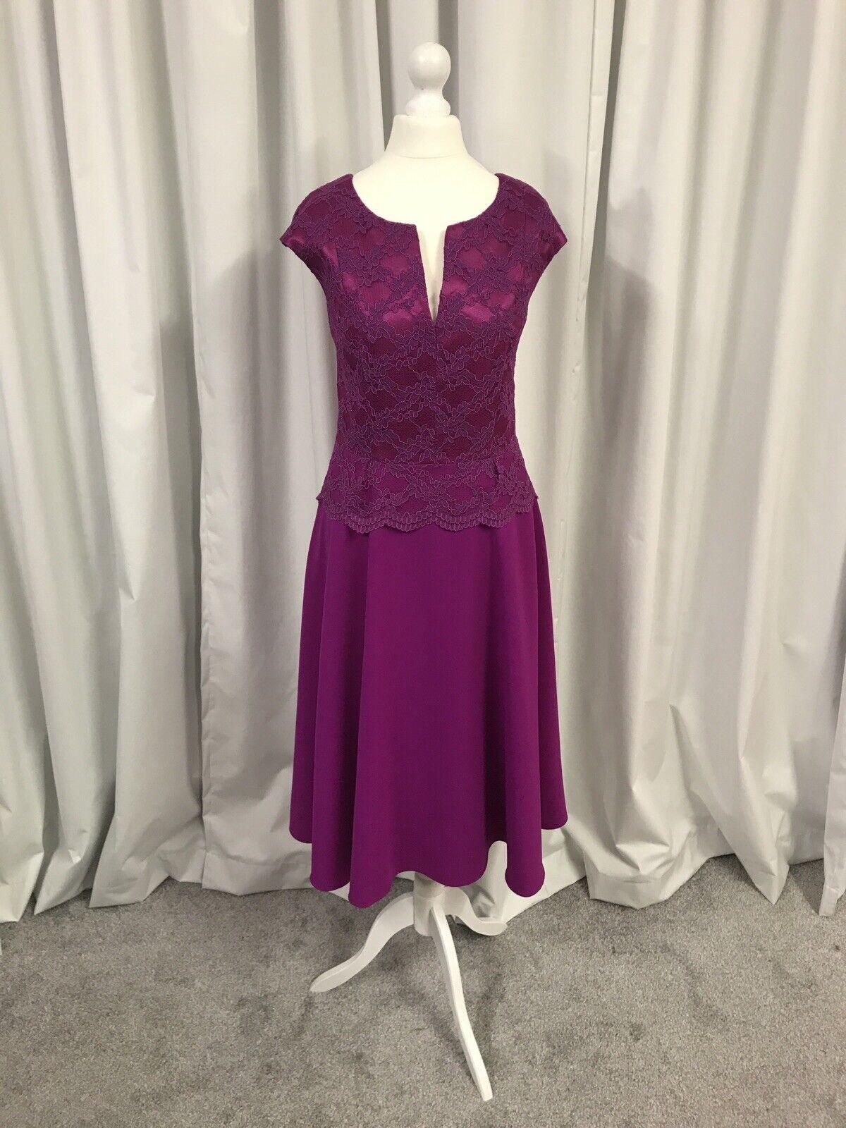 Aideen Bodkin Mother Of The Bride/Groom Massive Clearance Dress UK12, Magenta