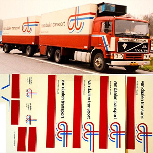 Volvo f12 van daalen transporte transportista 1:87 Truck decal camiones estampado