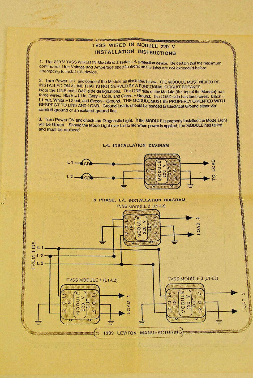 tvss breaker wiring diagram wiring library Power Wiring Diagram leviton 51220 wm 220v 1 ph 20a transient voltage surge suppressor \u0026 noise filter