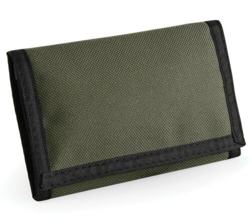 Mens Tri-fold Ripper Wallet Boys Womens Velcro Travel Purse Coin Card Holder