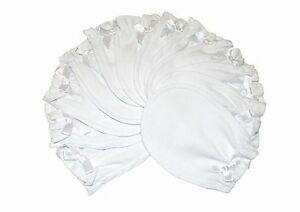 Soft White - 6 Pairs 100% Cotton Newborn Baby/Infant Anti-scratch Mittens Gloves