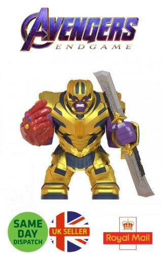 Thanos Mini Figure New Avengers End Game Marvel Nano Gauntlet Sword UK Seller