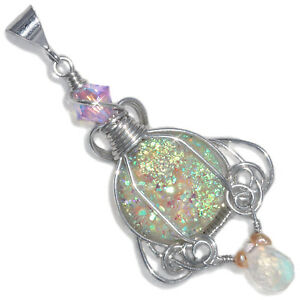 Fairy-Aura-Drusy-Wire-Wrapped-Handmade-Pendant-with-Moonstone