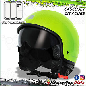 Casque Moto Scooter Jet Universel Motocubo City Cube Vert