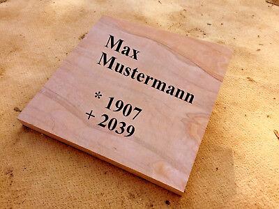 VertrauenswüRdig Liegeplatte Grab Liegestein Urnenstein Sandstein Steinplatte Grabplatte Friedhof Bequem Zu Kochen Historische Baustoffe Bestattungsbedarf