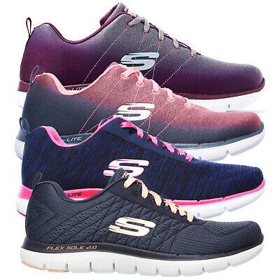 Skechers Ladies Flex Appeal 2.0 Bright Side Or Break Free Light Weight Trainers | eBay