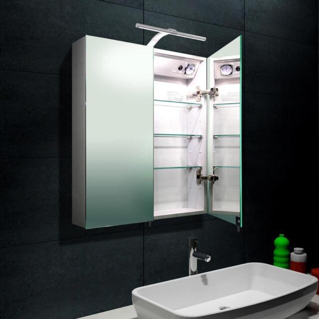 LED Alu Badezimmerspiegelschrank Bad Spiegelschrank Möbel Badspiegel ...
