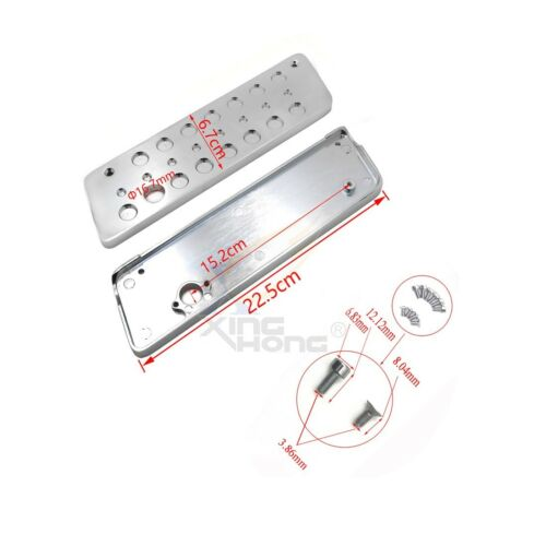 Left /& Right Chrome Deeply Cut Saddlebag Latch Cover For Harley Road King