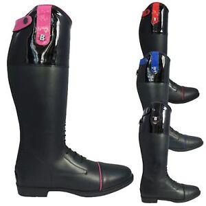 67068fa6c1aef Brogini Ginny Boots - Kids Childrens Leather Diamante Patent ...
