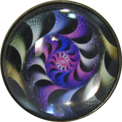 """Gorgeous FREE US SHIPPING 1/"""" Crystal Dome Button Mystical Spiral #8"""