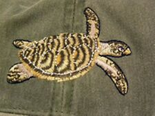 Hawksbill Sea Turtle Embroidered Cotton Cap NEW Hat