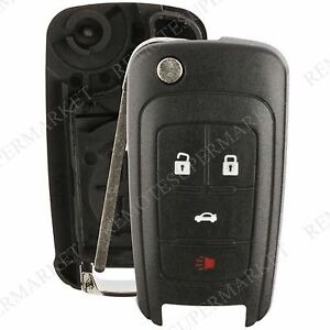 replacement for chevy camaro cruze equinox malibu remote key fob 4b shell case ebay. Black Bedroom Furniture Sets. Home Design Ideas